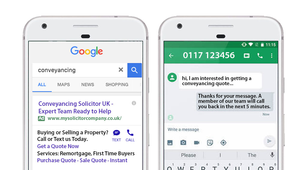 """Click to message"" a law firm - new Google AdWords feature goes live!"