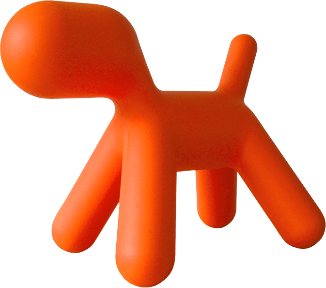 The big orange dog